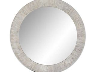 Rustic Style 35 inch Round Wall Mirror   Brown   A N Retail 248 49