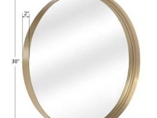 20 30  Round Art Wall Mirror Metal Frame for Entryways Washrooms living Rooms Decor Retail 99 99