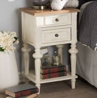 The Gray Barn Windy Knob Weathered Oak and White Wash Nightstand Retail 172 99