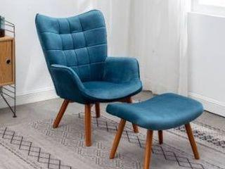 Carson Carrington Aasen Contemporary Silky Velvet Tufted Accent Chair Retail 246 49