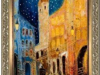 Justyna Kopania  Old Town  Hand Painted Framed Canvas Art Retail 325 49