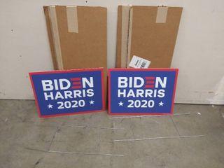 lot of 2   Two Sided  Biden Harris 2020  Yard Signs  20  x 18