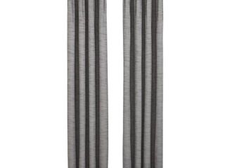 Allen And Roth X72613084zbg Winbourne 84 in Gray Polyester Curtains