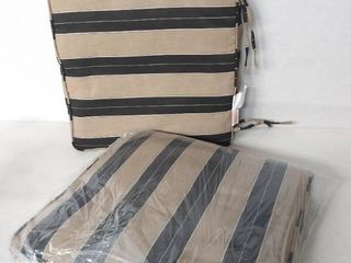 Clara 19  Indoor Outdoor Brown   Black Stripe Cushions