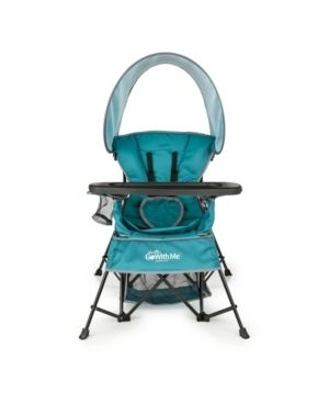 Baby Delight Go with Me Chair   Indoor Outdoor Chair with Sun Canopy   Teal   Portable Chair converts to 3 Child Growth Stages  Sitting  Standing and Big Kid   3 Months to 75 lbs   Weather Resistant