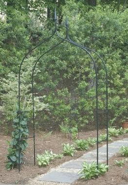 Gardman 7  Gothic Steel Garden Arbor   Black