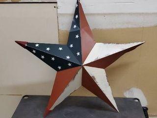 American flag metal star