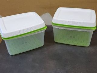 Rubbermaid FreshWorks Food Storage   2  17 3C large Rectangles  Green