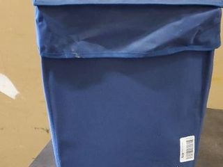Amazon basics blue roll bag  Extended handle and collapsible For easy storage