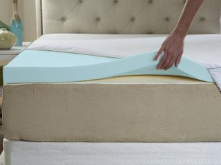 Memory Foam 3 Inch King Size Mattress Topper Bed Foam Topper Gel Infused King Size Foam Mattress Pad for King Bed