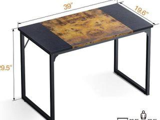 Computer Desk with Splice board 39 in  Brown Black