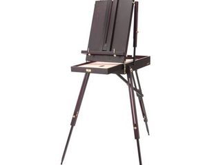 SoHo Urban Artist lightweight French Style Easel with Sketchbox 12  Drawer   30  lighter Than Other Portable EASElS   Rich Mahogany Finish