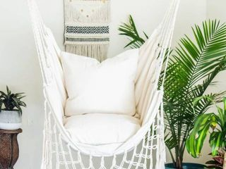 Cream Hammock Swing Chair
