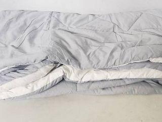 Bedsure Bed in A Bag Comforter Set   White light Grey Twin Size   Microfiber   Reversible Comforter   Pillow Sham