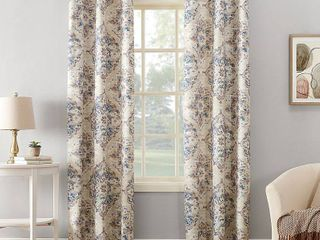 lot Of 4  95 x40  Regina Watercolor Floral Thermal Insulated Grommet Curtain Panel linen   Sun Zero