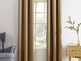 lot Of 6  108 x40  Kenneth Energy Saving Blackout Grommet Top Curtain Panel Taupe   Sun Zero