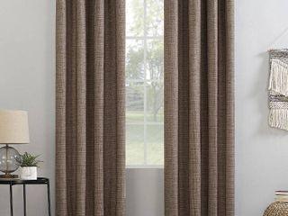 lot Of 4  Kline Burlap Weave 52  x 63  Thermal Blackout Curtain Panel