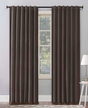 lot Of 2  96 x50  Amherst Velvet Noise Reducing Thermal Back Tab Extreme Blackout Curtain Panel Dark Brown   Sun Zero