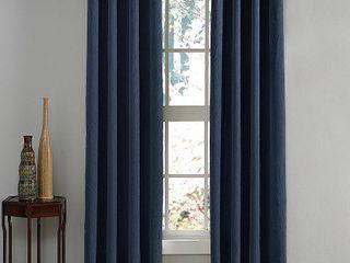 lot Of 2  95 x50  lenox Gommet Top Room Darkening Curtain Panel Navy   Curtainworks