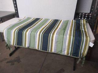 Coastal Stripe Hammock Replacement Quilted Pad   Green Stripes  54 5  W x 76  l