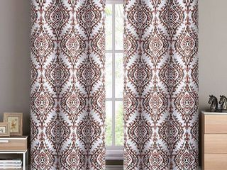 VCNY Home london Damask Printed Blackout Grommet Top Window Curtain Panels  38  x 96