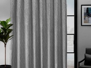lot Of 4  84 x108  Forest Hill Patio Woven Blackout Grommet Top Single Curtain Panel Gray   Exclusive Home