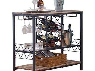 O K Furniture Industrial Wine Rack