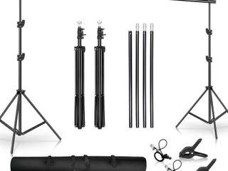 SH Background Stand  6 5 x 10FT Heavy Duty Background Stand  2x3M Backdrop Support System Kit with Carry Bag for Photography Photo Video Studio Photography Studio
