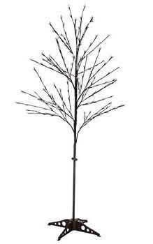 6 5  Adjustable lED Cherry Blossom Flower Tree w Plastic Brown Base  Plugged in   Did Not Power On