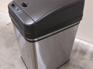 iTouchless 8 Gallon Pet Proof Sensor Trash Can  Stainless Steel