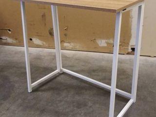 White   Natural Folding Desk   31 5  W x 18  D x 29 5  H  Missing Hardware