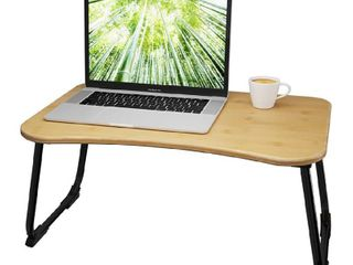 Multifunctional Bamboo lap Desk  Breakfast Serving  Bed Tray  Sofa Tray  with Foldable legs  23 5  W x 14 15 25  D x 11  H