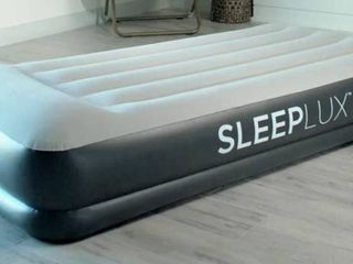 Sleeplux Twin Air Mattress with Built in AC Pump  15  Raised Inflatable Airbed  Includes USB Charge Port  75  x 38  x 15