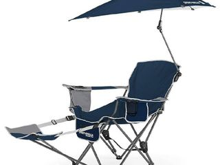 Sport Brella Folding 3 Position Recliner Chair w  Case   Removable Umbrella   Footrest  Weight Capacity 250 lbs
