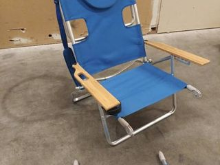 Ostrich 3 N 1 Beach Chair   lounger Color  Blue  3N1 1001B