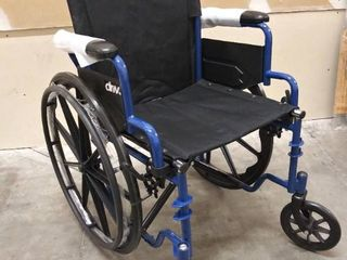 Drive Medical  Blue Streak   BlS18FBD SF  Transport Wheelchair   Collapsible  Feet are Not Included