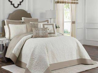 Vue Signature Bensonhurst Embossed Ivory Bedspread   King Size