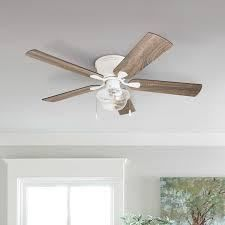 The Gray Barn East Cowes 52 inch Coastal Indoor lED Ceiling Fan with Pull Chains 5 Reversible Blades  Retail 153 99