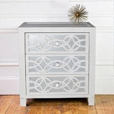 Silver Orchid Fonda 3 drawer Mirror Chest  Retail 238 99