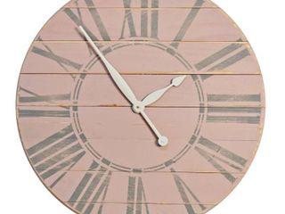 Vintage Tea Rose Farmhouse Wall Clock  Retail 156 99