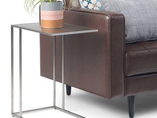 Porch   Den Santee C shaped Side Table   13  W x 20  D x 23 25  H  Retail 154 99