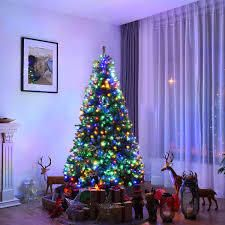 Pre lit Artificial Christmas Tree with Hinged lED lights  Retail 137 49