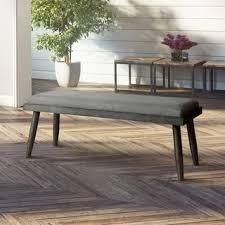 Carson Carrington St Mawes Grey Upholstered Mid century Dining Bench  Retail 214 49
