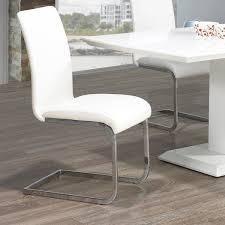 Porch   Den University Maxim Chrome  Faux leather Dining chair  Set of 2    Retail 209 49