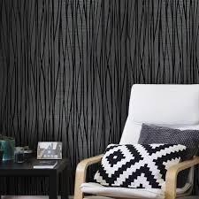 Velour Flocked Wallpaper Charcoal Black Flocking Velvet   27 inc x 33 ft  Retail 94 99