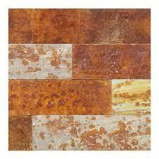 Aspect Peel   Stick 23 6  x 5 9  Tarnished Tin Distressed Metal Panel