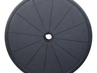 Maypex 20 In  Adjustable Outdoor Umbrella Round Table Top   Black