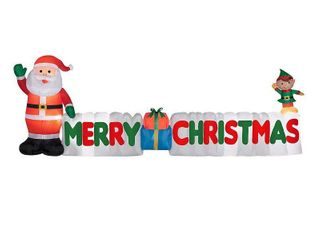 12 ft  Inflatable Merry Christmas Sign  Retail 128 99