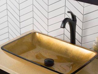 Kraus Glass Vessel Sink  Bathroom Faucet  Mounting Ring  Retail 239 95