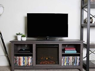 Roosevelt Charcoal 58 inch Fireplace TV Stand Console only Retail 306 99